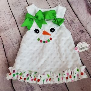 LOLLY WOLLY DOODLE Christmas Dress in Infant 0-3mo